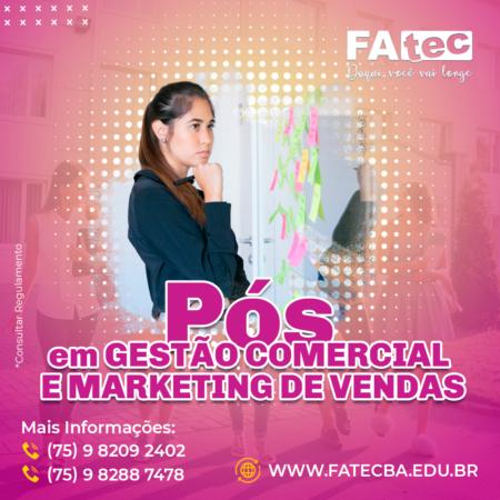 Gestão Comercial e Marketing Vendas